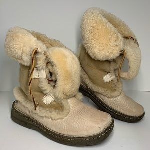Born shearling leather handcrafted winter boots